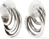 Dannijo Winona Oxidized Silver-tone Hoop Earrings