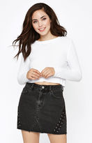 PacSun Double Lace-Up Skirt