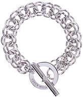 Karen Millen Encrusted Bar & Hoop Bracelet, Silver