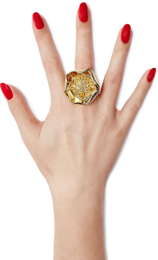 Aurelie Bidermann 18kt Yellow Gold-Plated Flower Ring