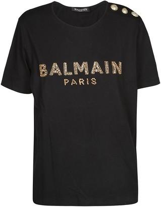 Balmain Logo Embellished T-Shirt