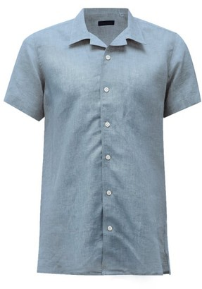 Thom Sweeney - Cuban-collar Linen-chambray Shirt - Light Blue