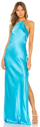 Michael Lo Sordo Halter Maxi Dress