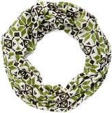 Green Pixelated Geometric Infinity Scarf