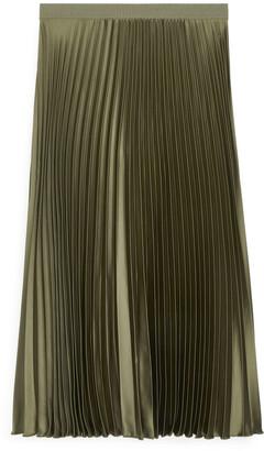 Arket Pleated Midi Skirt