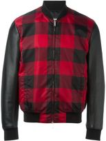 DSQUARED2 tartan print bomber jacket - men - Cotton/Leather/Polyamide/Viscose - 44