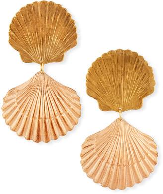 We Dream In Colour Seychelles Seashell Drop Earrings