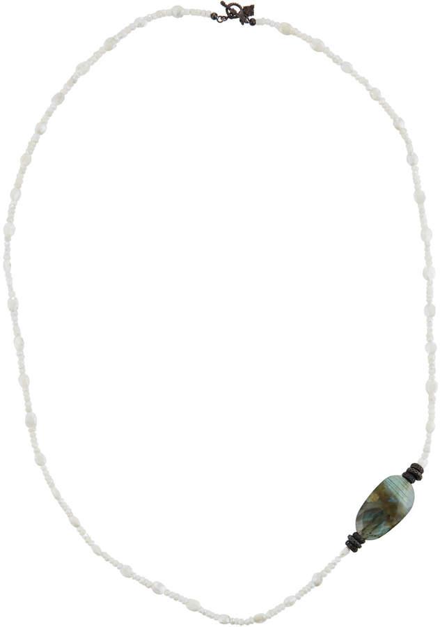 Armenta Long Labradorite & Silverite Beaded Necklace