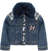 MonnaLisa Jean jacket with embroidered flowers