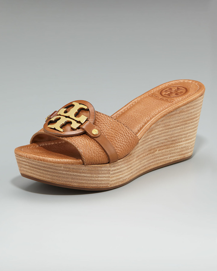 Tory Burch Patti Logo Wedge Slide