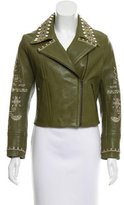 Yigal Azrouel Embroidered Leather Jacket w/ Tags