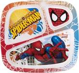 Zak Designs Zak! Designs 3-Section Plate Ultimate Spiderman - Break-resistant and BPA-Free (Pack of 6)
