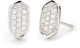 Kendra Scott Amelee Earrings in Pave Diamond and 14k White Gold