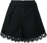 Self-Portrait curved hem shorts - women - Polyester/Spandex/Elastane/Viscose - 6