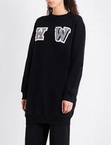 Off-White W-appliqué oversized cotton-jersey sweatshirt