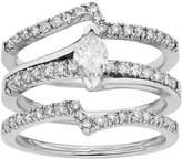 Kohl's IGL Certified Diamond Marquise Engagement Ring Set in 14k White Gold (1 Carat T.W.)