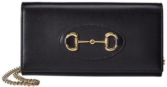 Gucci Horsebit Leather Wallet On Chain