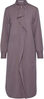 Agnona Draped Wool And Cashmere-blend Shirt Dress