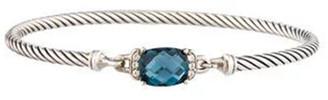 David Yurman Wheaton Bracelet (Blue Topaz and Diamonds)