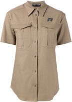 Rochas shortsleeved shirt - women - Cotton/Spandex/Elastane - 40