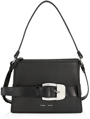 Proenza Schouler Large Buckle Leather Box Bag