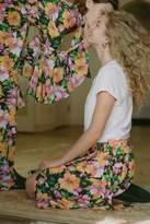 Topshop Heavy petal print midi skirt