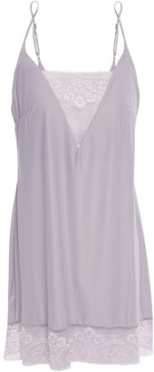 Wacoal Lace-trimmed Stretch-jersey Chemise