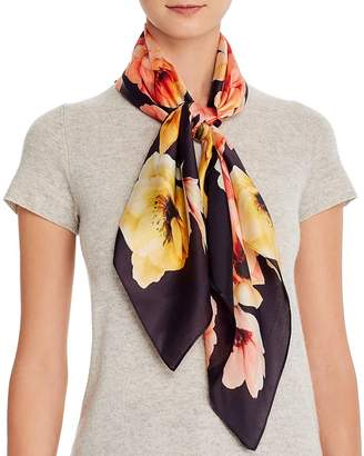 Echo Floral Bloom Silk Square Scarf