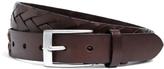 Brooks Brothers Flat Braided Leather Belt