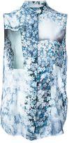 MM6 MAISON MARGIELA sleeveless floral blouse