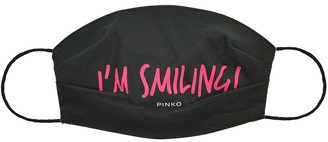 Pinko I'm Smiling slogan face mask