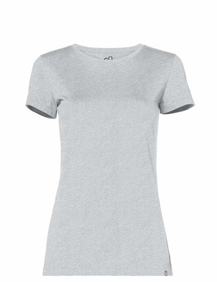 CARE OF by PUMA Women's Crew Neck Cotton T-Shirt Gray 16 Label:XL