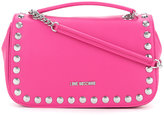 Love Moschino studded shoulder bag - women - Polyurethane - One Size