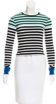 Alexander Wang Striped Long Sleeve Top