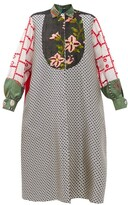 Thumbnail for your product : RIANNA + NINA Kendima Patchworked-cotton Coat - Multi