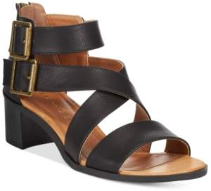 Rampage Harvarti Block Heeled Sandals Women's Shoes