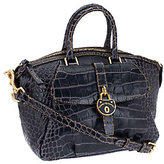 Dooney & Bourke Leather Croco Fino Satchel