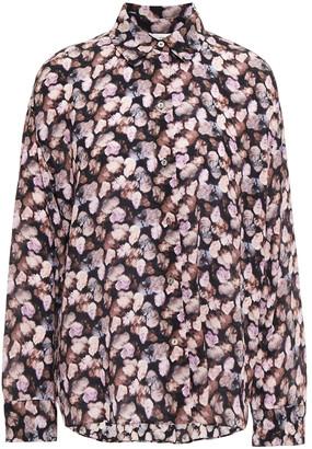 Vince Floral-print Silk-georgette Shirt