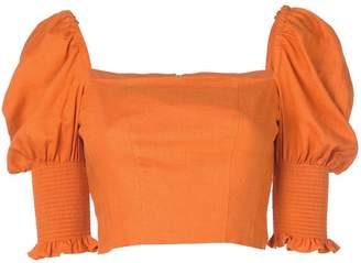Nicholas cropped Juliet sleeves top