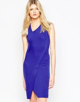 French Connection Lula Stretch Assymetric Fitted Dress