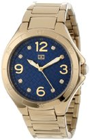 Tommy Hilfiger Women's 1781317 Casual Sport Gold-Plated Case and Bracelet with Crystals Dial Watch