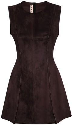 Marni Suede Mini Tunic Dress