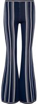 Herve Leger Stretch-jacquard Flared Pants - Storm blue