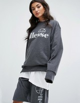 Ellesse Oversized Sweatshirt With Tonal Logo Co-Ord