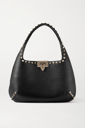 Valentino Rockstud Small Textured-leather Tote