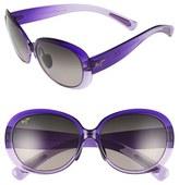 Maui Jim Women's 'Nahiku' 59Mm Polarized Sunglasses - Chocolate Fade/ Hcl Bronze