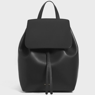 Mansur Gavriel Black Mini Backpack - Flamma