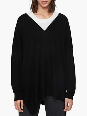 AllSaints Amber Wool Blend Jumper, Black