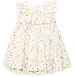 Petit Bateau Baby Girl's Ruffled Floral Dress