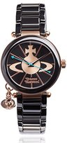 Vivienne Westwood Women's VV067RSBK Kensington Analog Display Swiss Quartz Black Watch